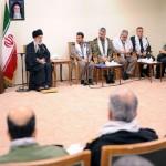 دیدار رهبر با مسئولان  راهیان نور  با حضور سردار دکتر بهمن کارگر رئیس بنیاد  ارزشهای دفاع مقدس