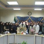 حاج عليرضاابراهیمی فرد در جمع صمیمی دانشجویان